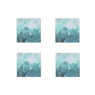 Crystal Mint Stone Magnet