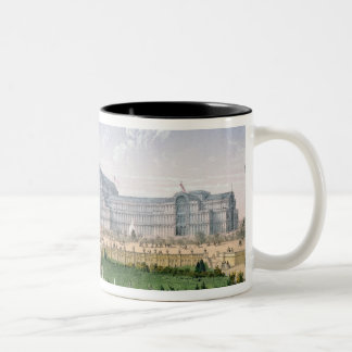 Crystal Palace, Sydenham, c.1862 (colour litho) Two-Tone Coffee Mug