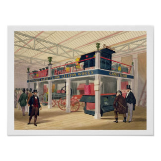 Crystal Palace, the Agricultural Court (coloured l Print