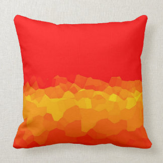 crystal pattern yellow and red gradient cushion