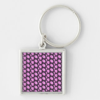 Crystal Pearl Stones Gems Giveaway Party Gifts Silver-Colored Square Key Ring