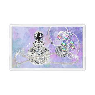 Crystal Perfume & Pearls Purple Watercolor Fantasy