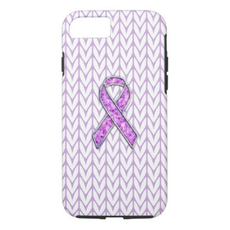 Crystal Pink Ribbon Awareness Knitting iPhone 8/7 Case