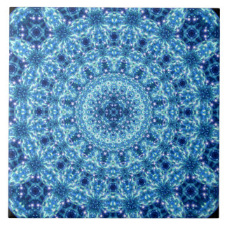 Crystal Radiance Mandala Ceramic Tile
