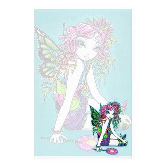 """Crystal"" Rainbow Candy Fairy Art Stationery"