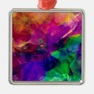 Crystal Rainbow Silver-Colored Square Decoration