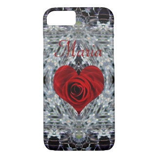 Crystal Red Rose heart Maria iPhone 8/7 Case