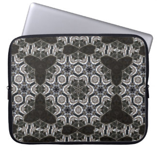 Crystal reflection kaleidoscope laptop sleeve