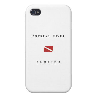 Crystal River Florida Scuba Dive Flag Cover For iPhone 4