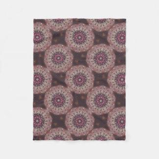 Crystal Rose Kaleidoscope Fleece Blanket