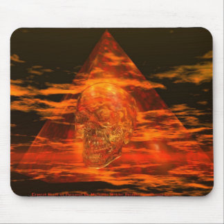 CRYSTAL SKULL In Pyramid Mouse Pad