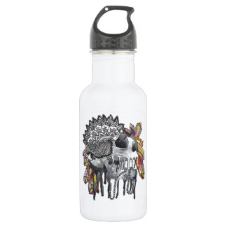 Crystal Skull Mandala 532 Ml Water Bottle