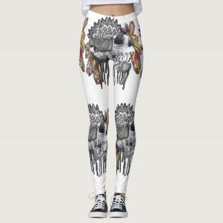 Crystal Skull Mandala Leggings