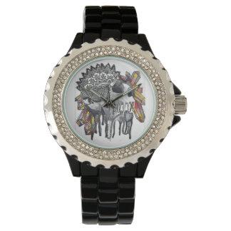 Crystal Skull Mandala Watch