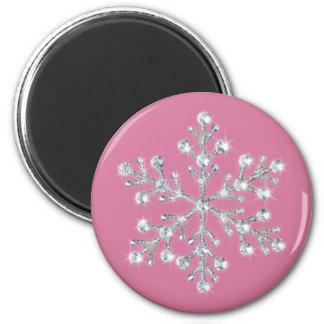 Crystal Snowflake Magnet