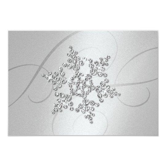 Crystal Snowflake Response Card