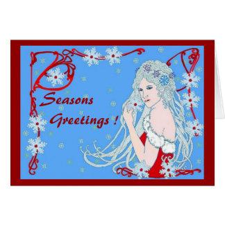 Crystal Snowflakes Card