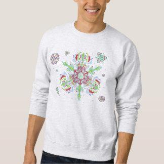 Crystal Snowflakes in the Winter (Sweatshirt) Sweatshirt