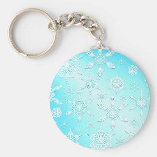 Crystal Snowflakes Keychain