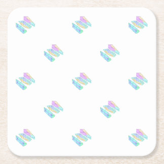crystal square paper coaster