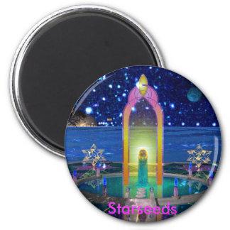 crystal star, Starseeds 6 Cm Round Magnet