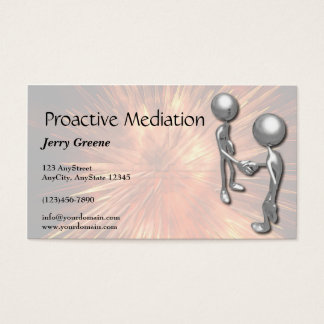 Crystal Starburst Handshake Business Card