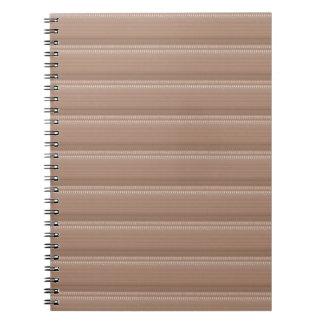 Crystal Stone Based Cream Brown Pattern NVN291 FUN Notebooks