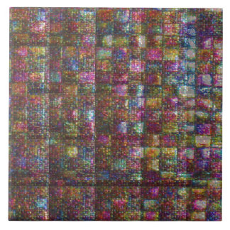 Crystal Stone Energy Healing Artistic Graphic Large Square Tile