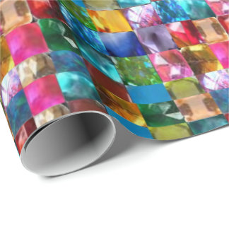 Crystal stone jewel pattern wrapping paper