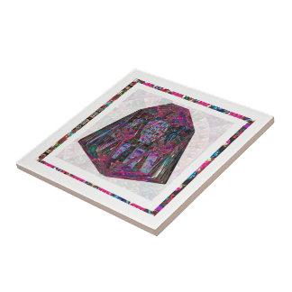 Crystal Stone Precious Healing Art Collection Ceramic Tile