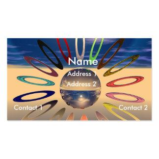 Crystal Sunburst Business Card Template
