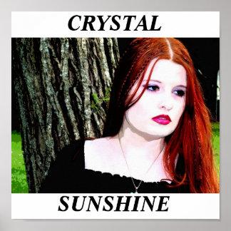 Crystal Sunshine 11x11 poster