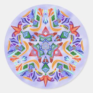Crystal Symmetry (Sticker) Classic Round Sticker