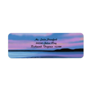 Crystal Water Sunset Return Address Labels