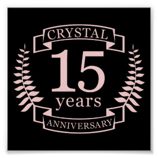 Crystal wedding anniversary 15 years poster