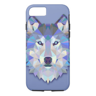 CRYSTAL WOLF Geometric Wolf Head iPhone 8/7 Case