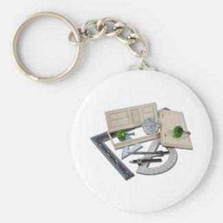 CrystalDoorknobDoorRulers021411 Basic Round Button Key Ring