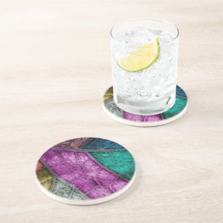 Crystalized Stained Glass Look sandstone coaster