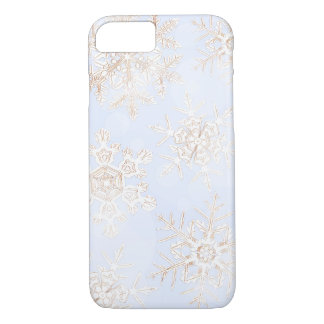 Crystalline Snowflakes Light Blue Phone Case