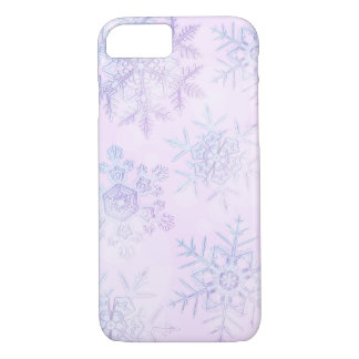 Crystalline Snowflakes Light Pink Phone Case