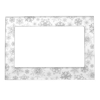 Crystalline Snowflakes Magnetic Frame