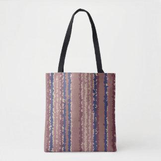 crystallize stripes pastel color tote bag