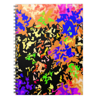 Crystallized Paint Splatter - Warm Colors Notebook
