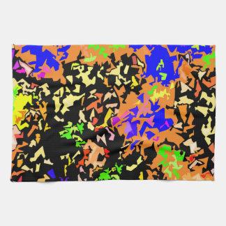 Crystallized Paint Splatter - Warm Colors Towels