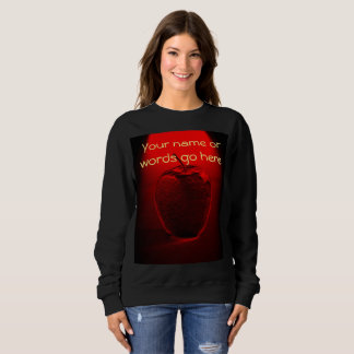 Crystallized Red Apple Sweatshirt