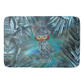 Crystallized Winter Fashion Owl Bath Mat