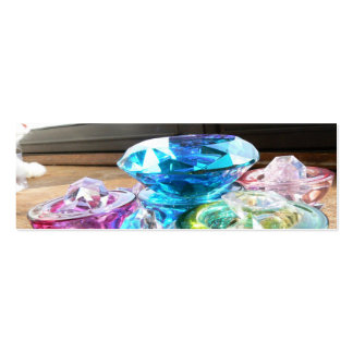 Crystals & Color Bookmark Pack Of Skinny Business Cards