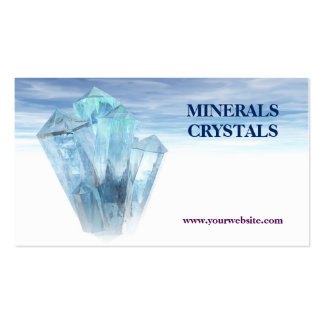 crystals minerals shop therapy pack of standard business cards