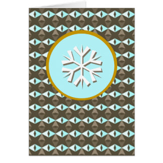 Crystals of Ice - Snowflake Greeting Card