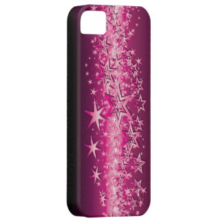 Crystals Pink Stars iPhone 5/5S Covers
